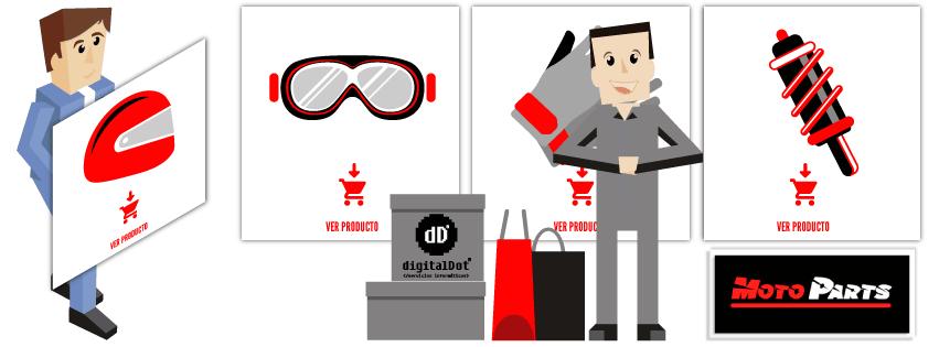 Desarrollo tienda online MotoParts