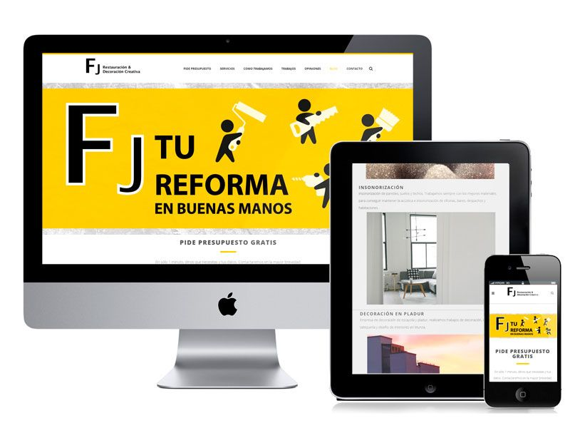 Diseño web empresa de reformas por digitalDot