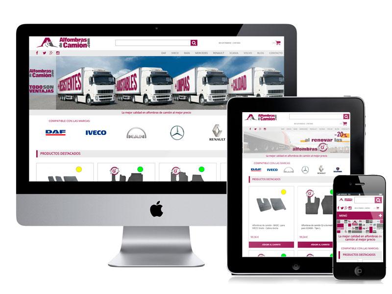 Desarrollo del ecommerce Alfombras de Camión