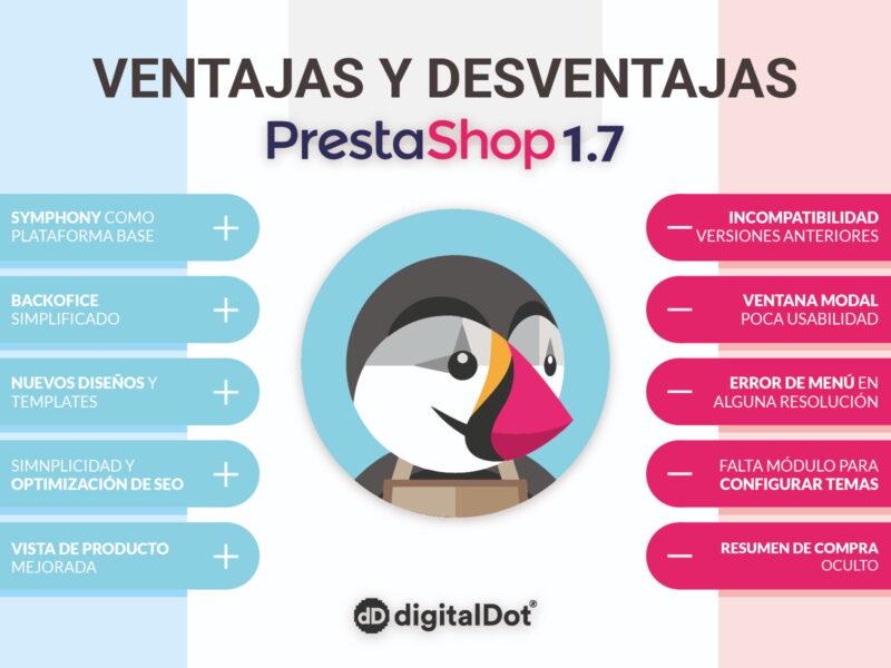 Ventajas de Prestashop 1.7. digitalDot