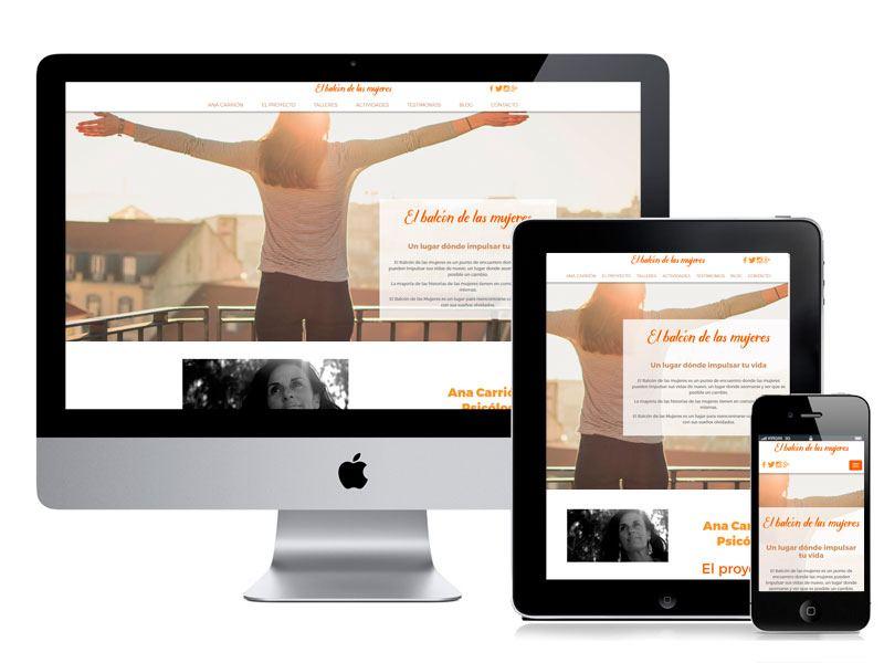 Diseño de la web El Balcón de las Mujeres