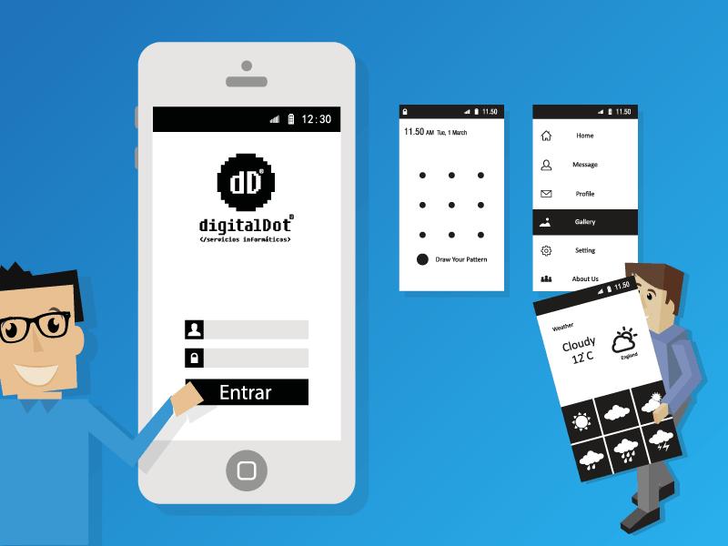 Precio de una aplicación móvil. digitalDot