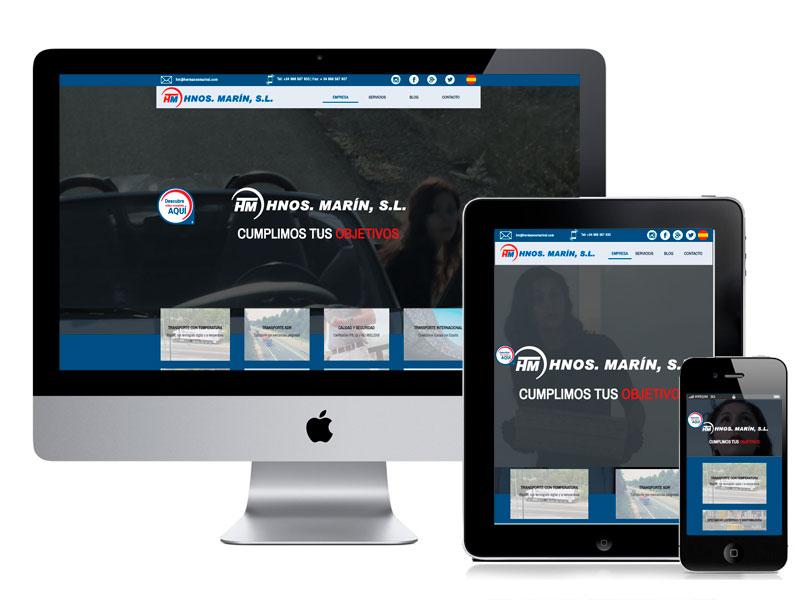 Diseño web de la empresa Hermanos Marín. digitalDot