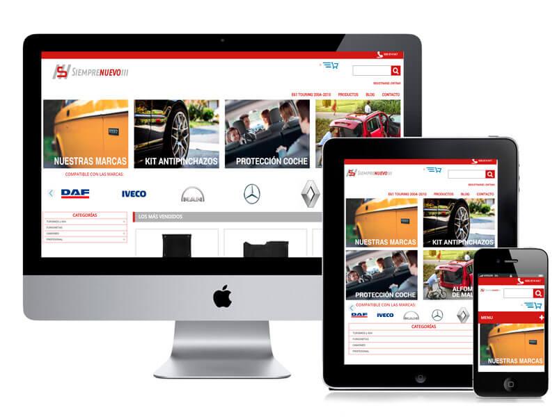 Diseño web Siemprenuevo por digitalDot