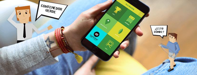 Diseño app retorecicla. digitalDot