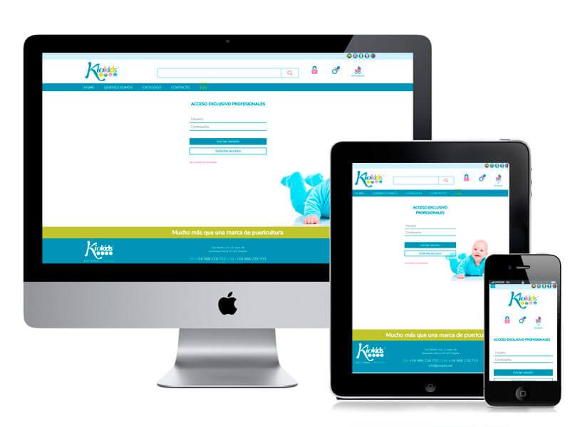Diseño web tienda online Kiokids