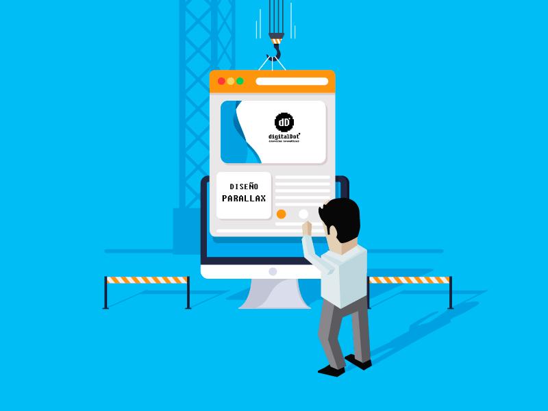 Diseño web parallax. digitalDot
