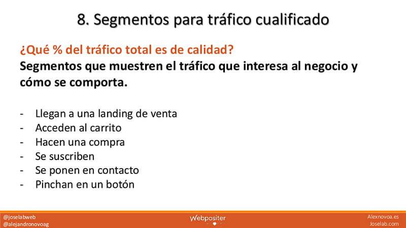 Segmentos para el tráfico del SEO