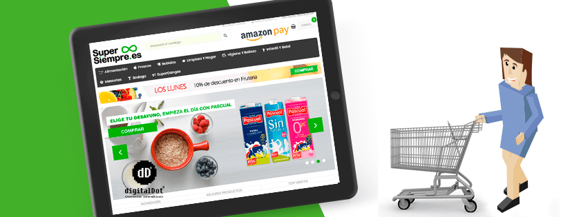 Diseño tienda online supermercado. digitalDot