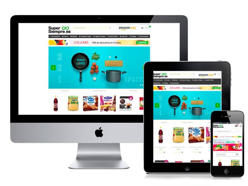 Diseño tienda online Supersiempre por digitalDot
