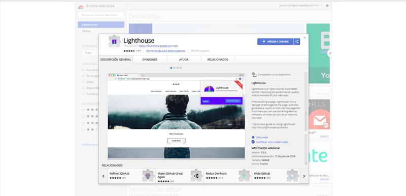 Descarga la extensión Lighthouse de Google para mejorar el SEO