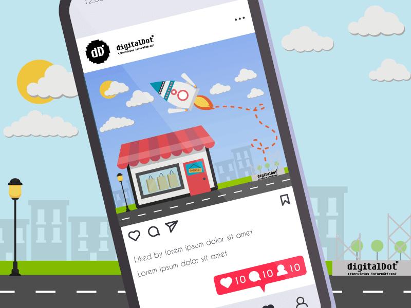 Instagram para empresas. digitalDot