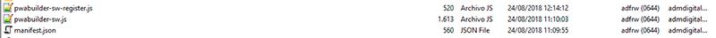 Ficheros root para configurar Progressive en Joomla