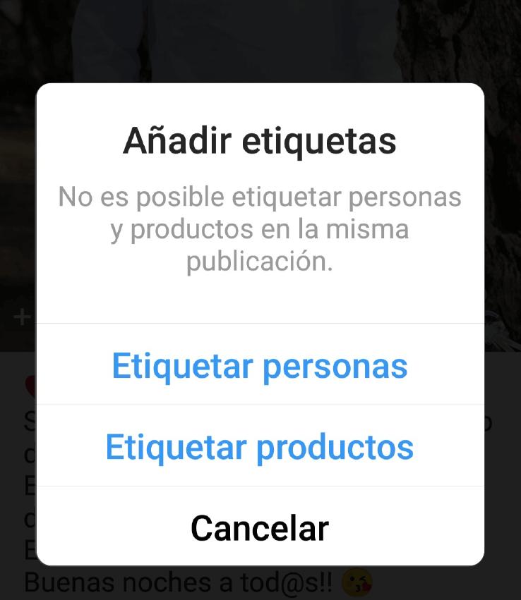 etiquetar productos instagram