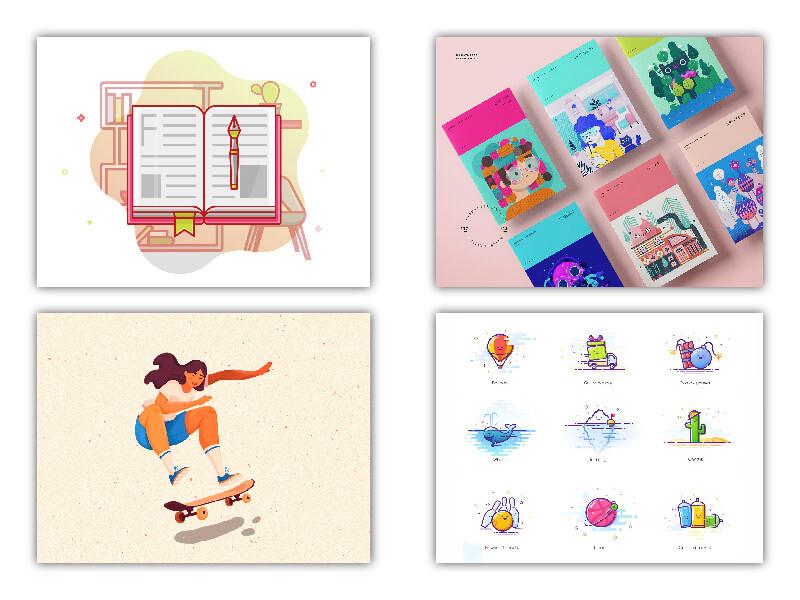 Ilustraciones como tendencias diseño gráfico
