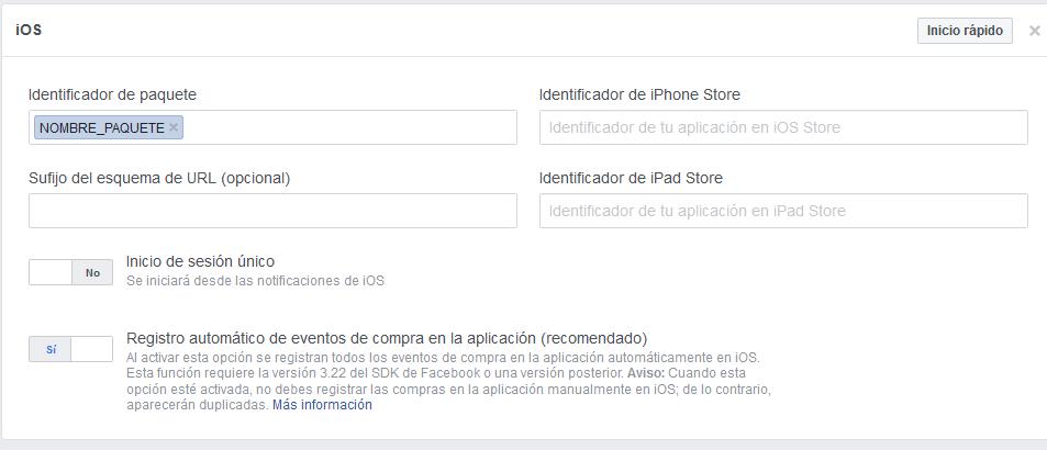 Integrar inicio app facebook. digitalDot