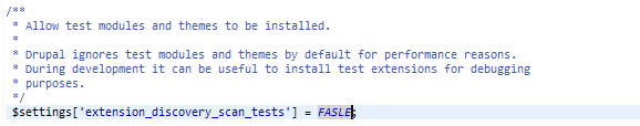 módulos test drupal