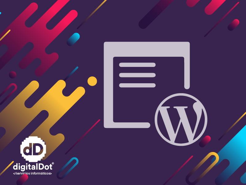 Landing con wordpress. digitalDot