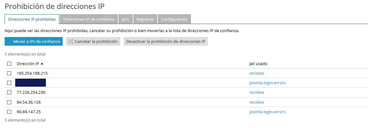Prohibir direcciones ip en Joomla. digitalDot