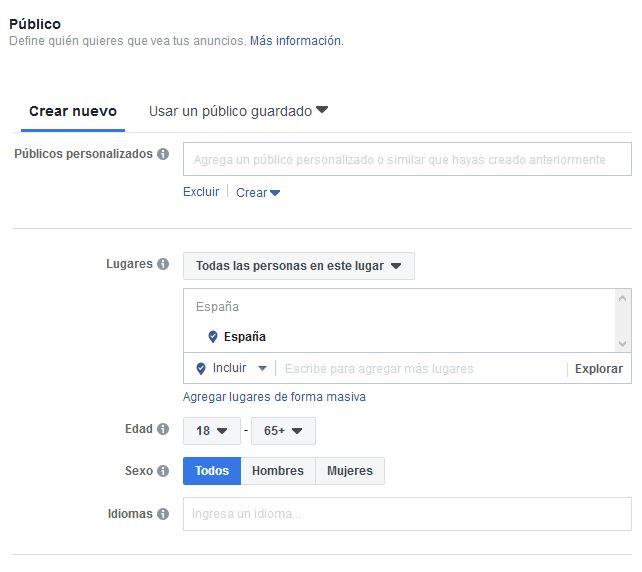 Segmentación en Publicidad en Facebook. digitalDot