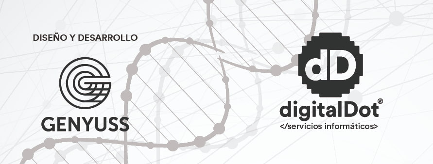 Diseño web tienda Genyuss. digitalDot