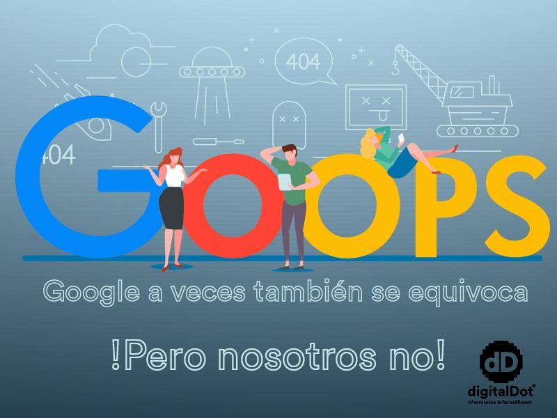 Fallo de indexación en Google. digitalDot