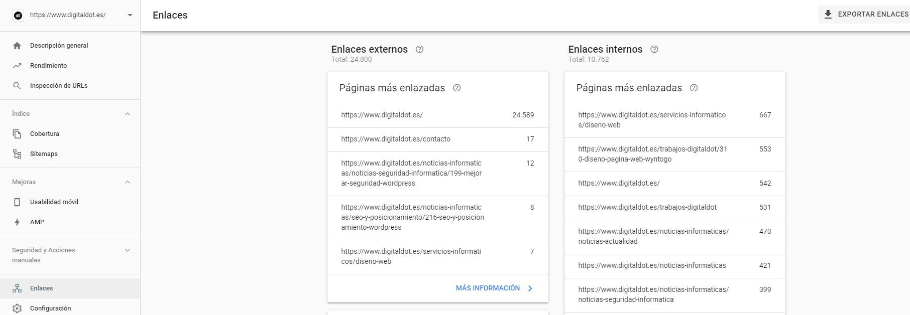 Enlaces web. digitalDot