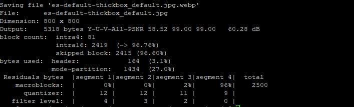 Comando optimización imágenes webp