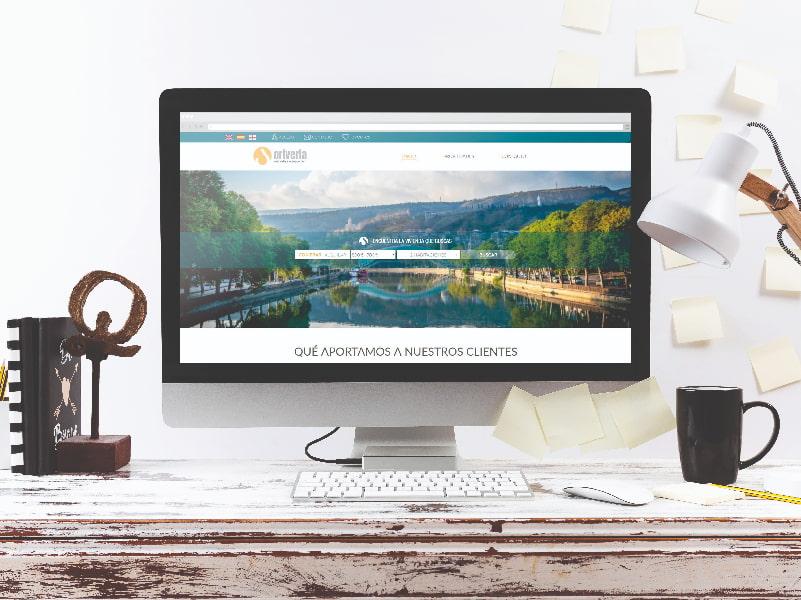 Diseño y desarrollo web de Oriveria