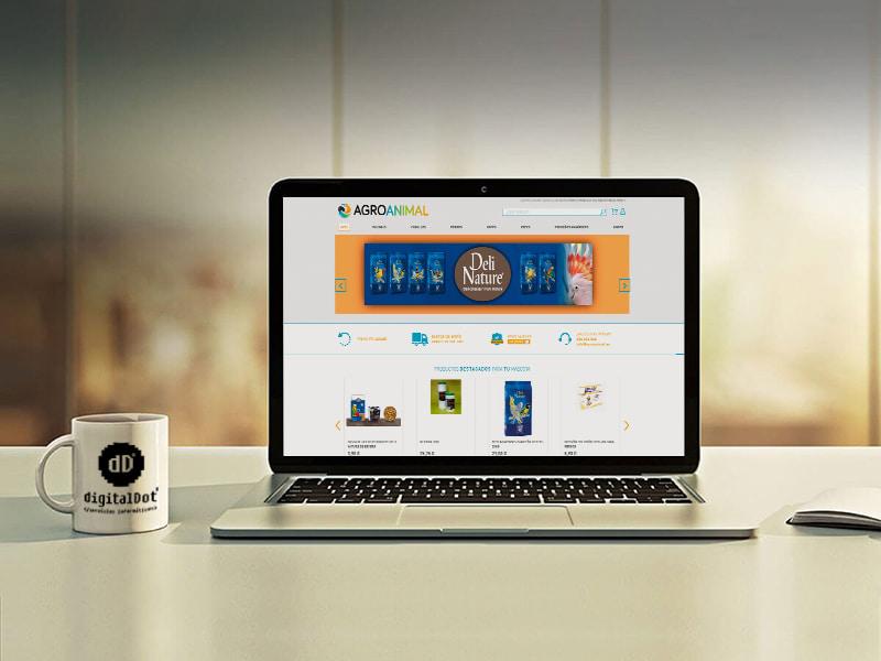 Diseño web tienda online agroanimal. digitalDot