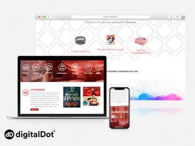 Diseño web para la empresa Litochap
