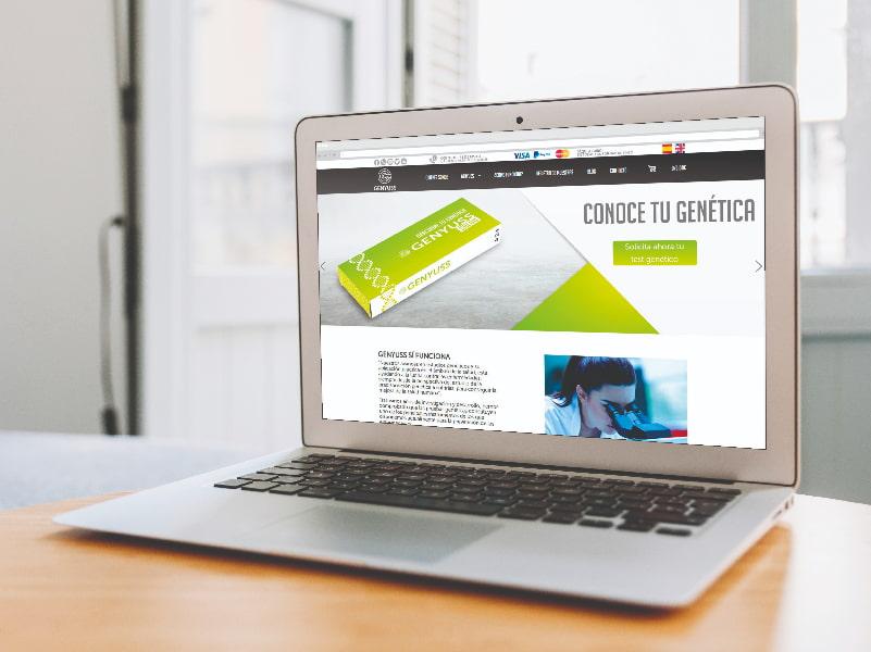 Diseño web para Genyuss por digitalDot
