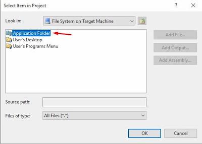 Instalador aplicación windows