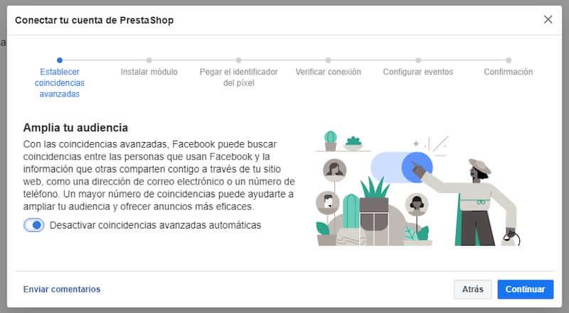 Conectar Facebook y Prestashop