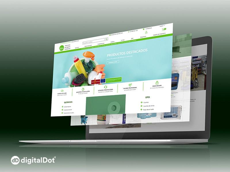 Diseño web de la tienda online Ardely
