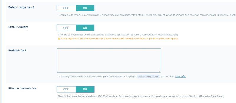 Configurar litespeed cache