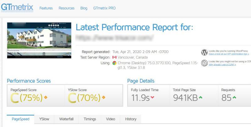 Test velocidad web. digitalDot