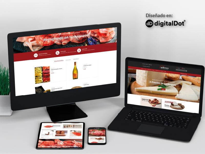 Diseño web tienda Jamones Herrero