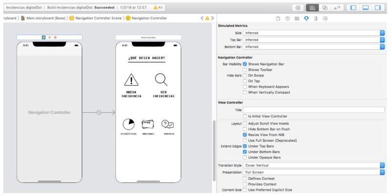 Barra de navegación iOS