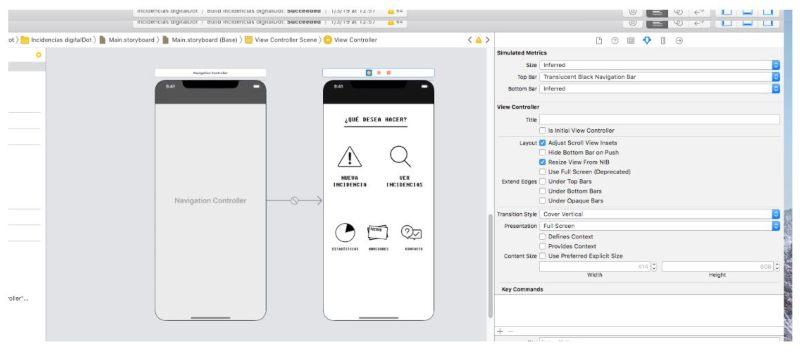 Crear barra de navegación iOS