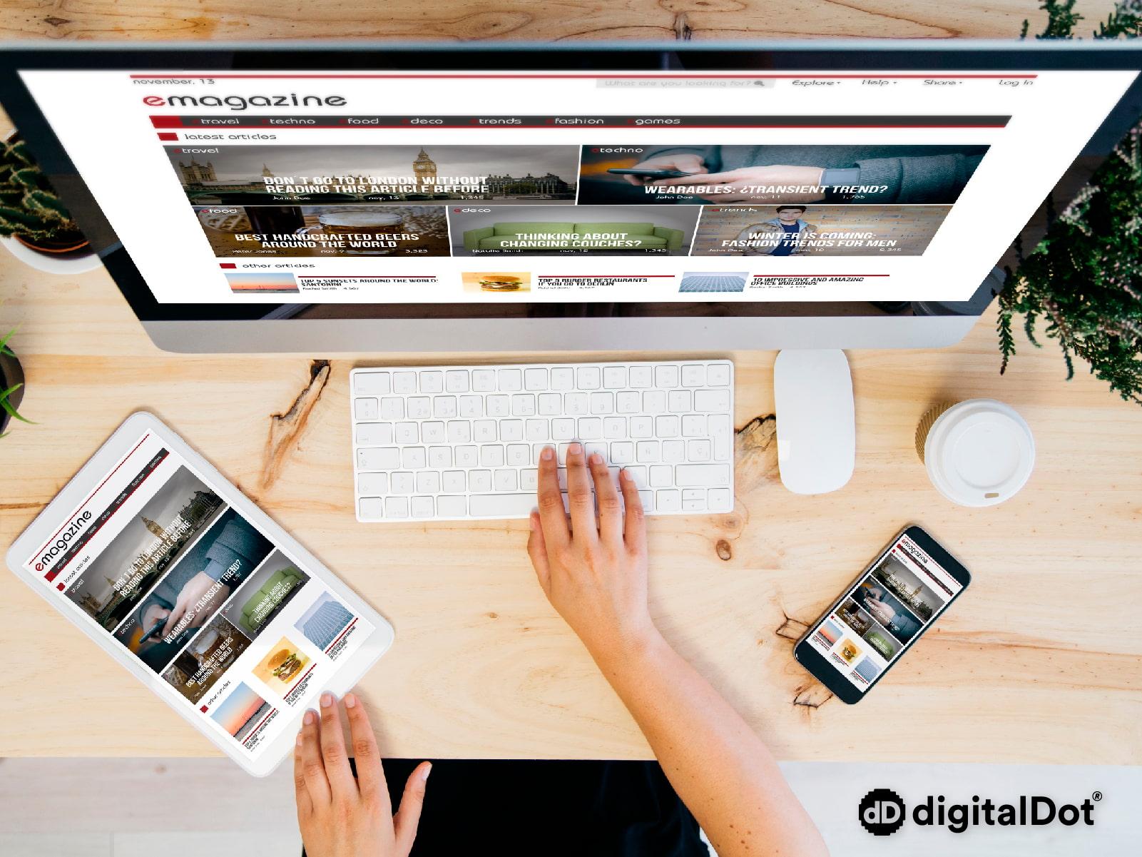 Diseño responsive para landing. digitalDot