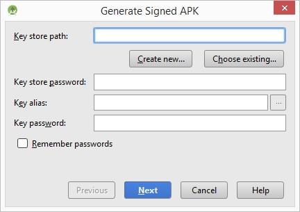 Generar APK. digitalDot