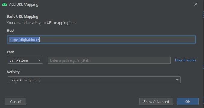 URL mapping Editor
