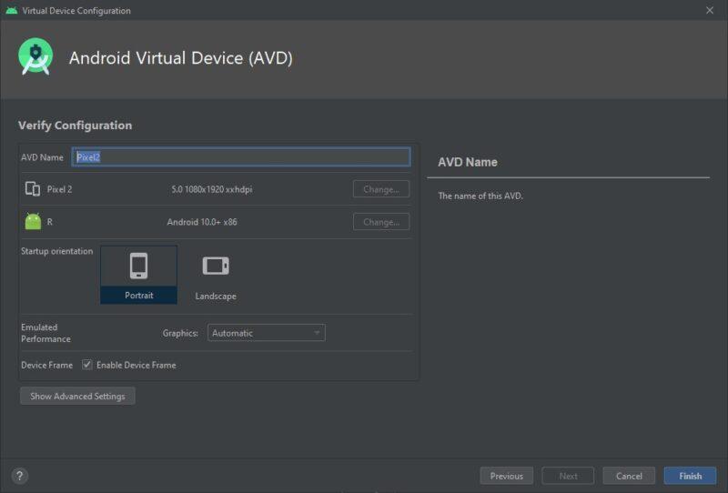 Configurar emulador app