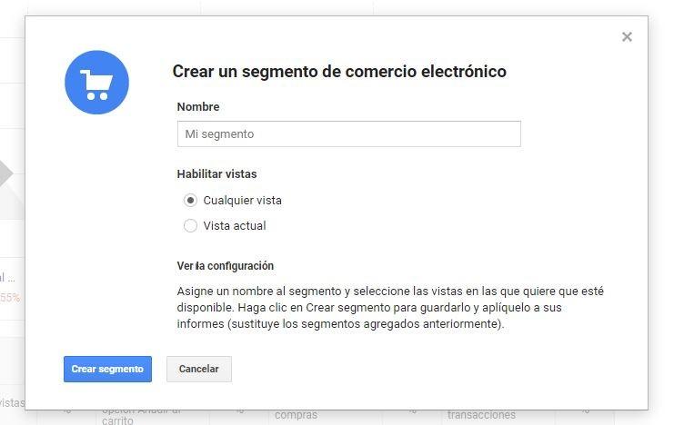 Crear segmento con Google Analytics