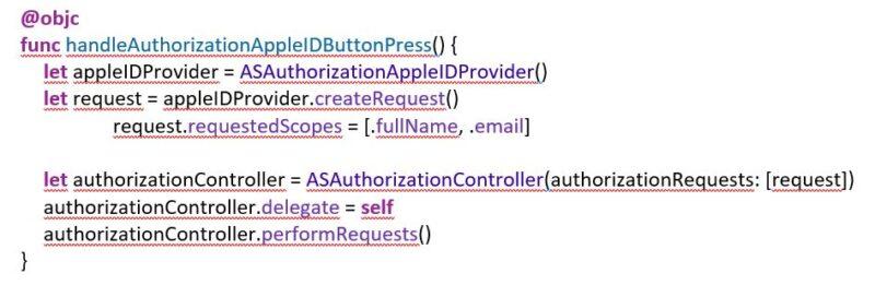 Funcionalidad app Apple