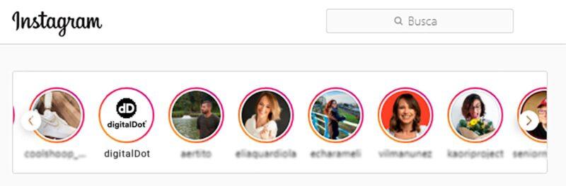Instagram Stories Posicionamiento SEO - digitalDot