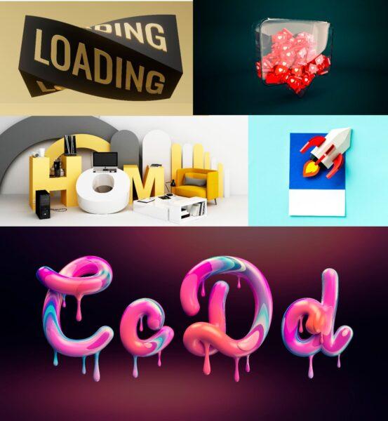 Tipografías 3D para diseño web 2021