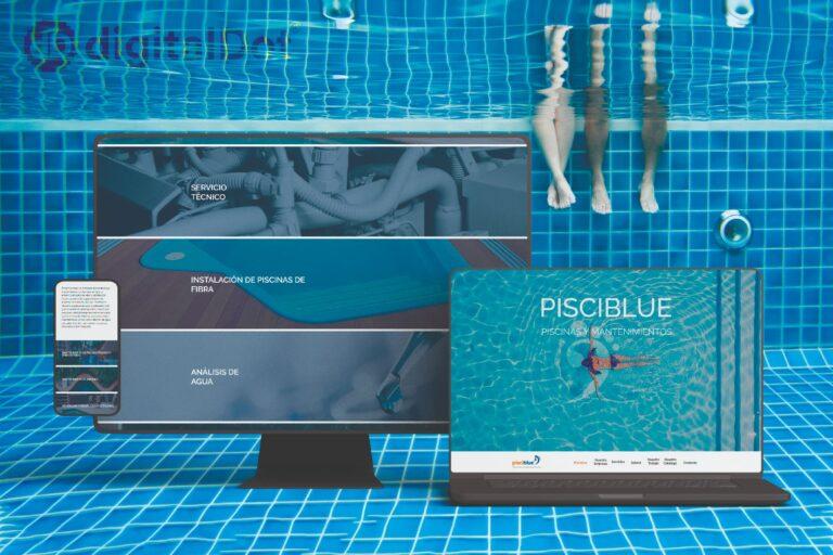 Diseño web de Pisciblue. digitalDot