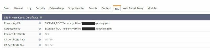 certificado serverhost